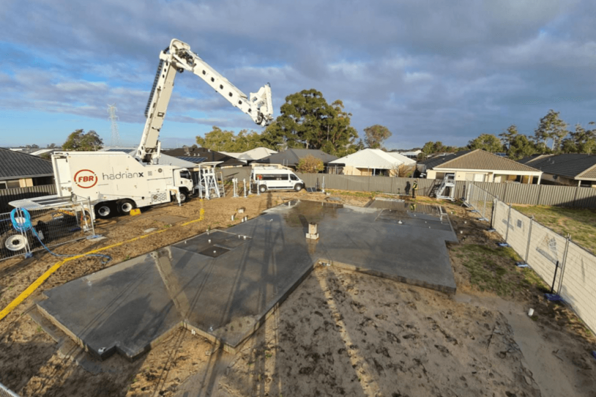 Bricklaying Robot, Hadrian X, Builds Display Home in Perth after 15 Years of Development