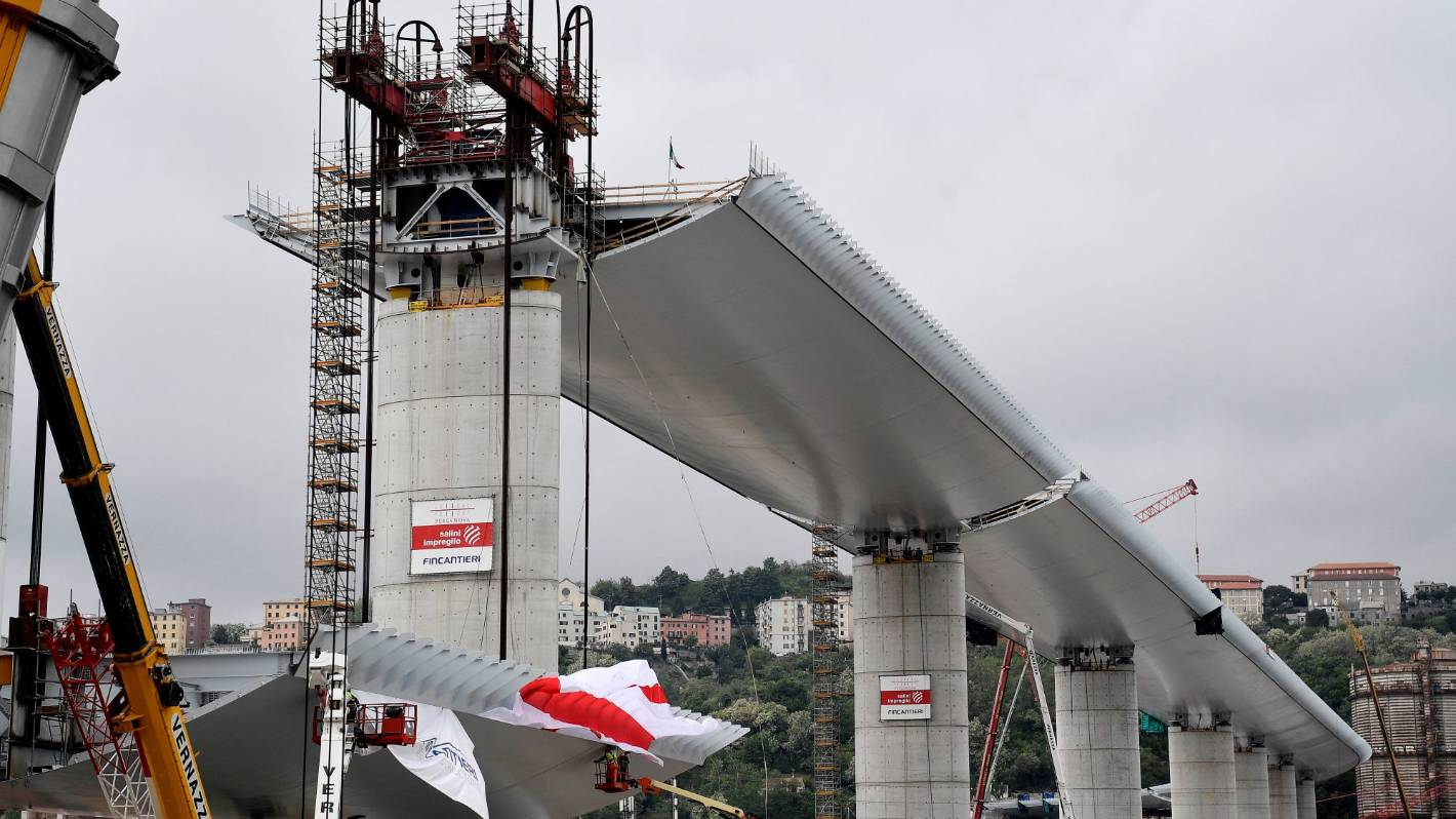 Morandi Bridge Replacement to Use Robots to Monitor for Corrosion