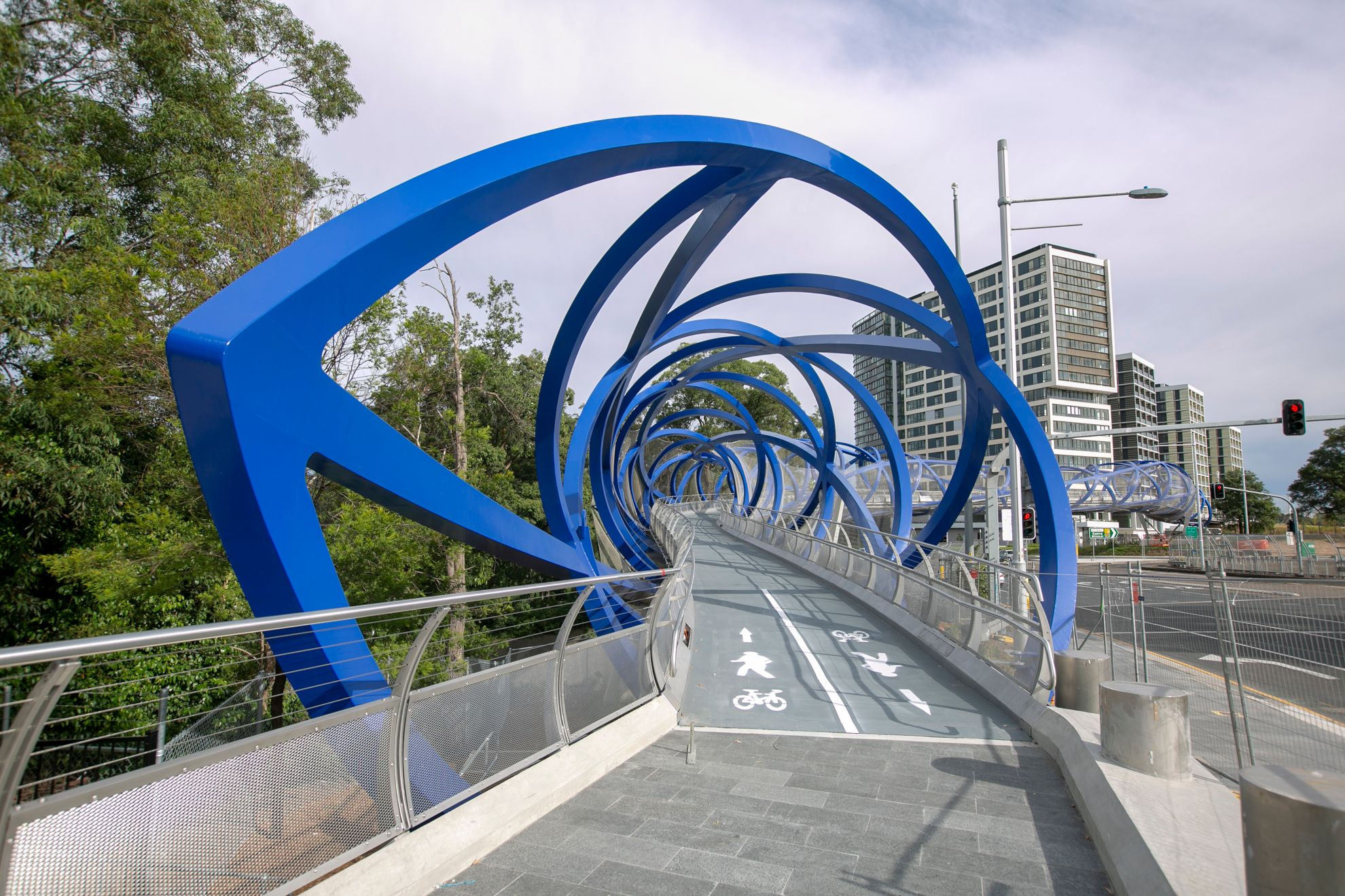 Australia's First Double Helix Bridge Opens in Sydney