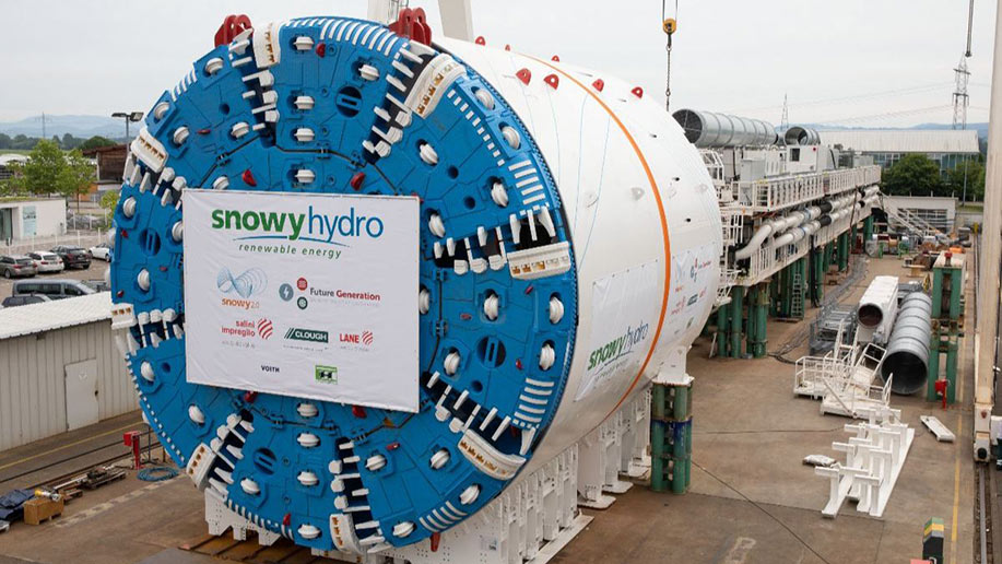 WATCH: TBM for Snowy Hydro 2.0 Tested in German Factory Before Landing at Port Kembla
