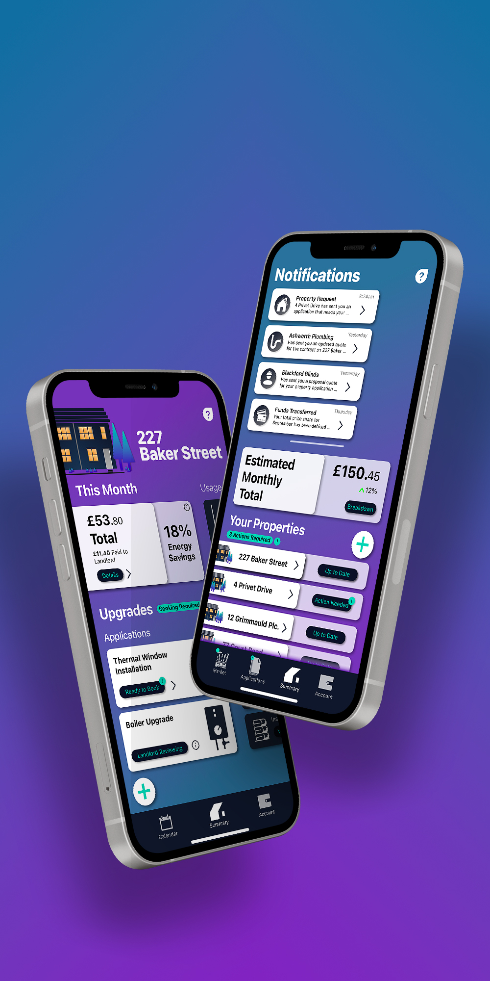 Hero shot of app design for my project shift