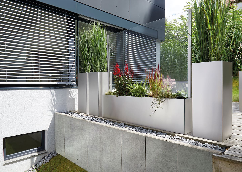 Die Integration unseres bewährten Windschutzsystems VERANO aus edlem Glas und Metall.
