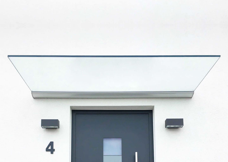 PLAN FIVE: Glasvordach freitragend