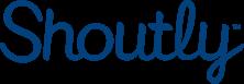 Shoutly logotyp blå