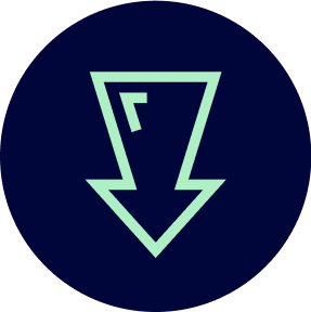 Icon of an arrow pointing down