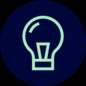 Icon of a lightbulb