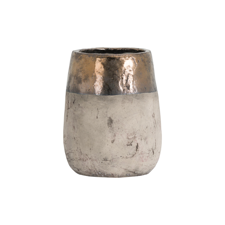 Metallic Dipped Large Vase