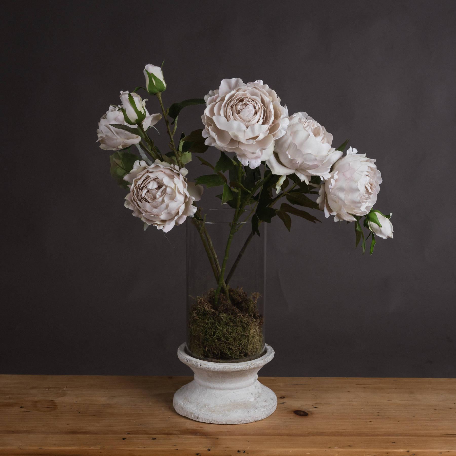 Grey Spray Rose Peony