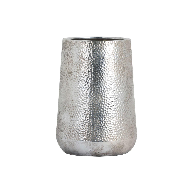 Metallic Ceramic Tapered Vase