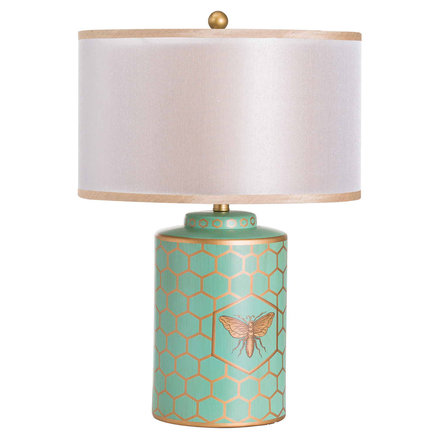 Harley Bee Table Lamp With White Shade