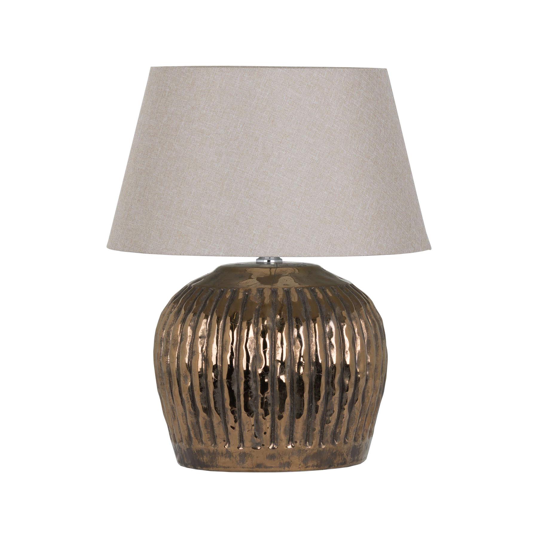 Basilica Bronze Metallic Ceramic Table Lamp