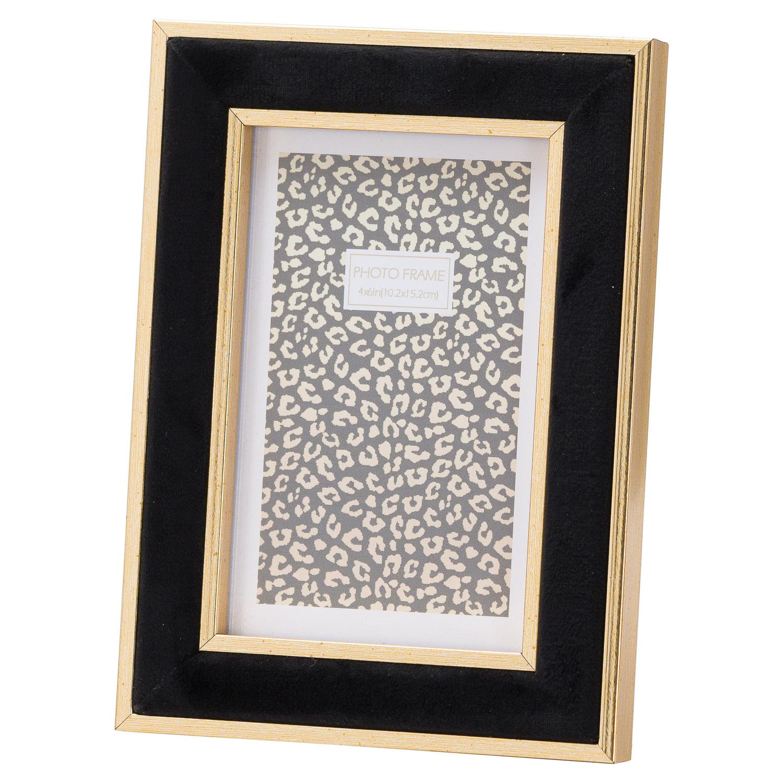 Black Velvet With Gold 4X6 Frame