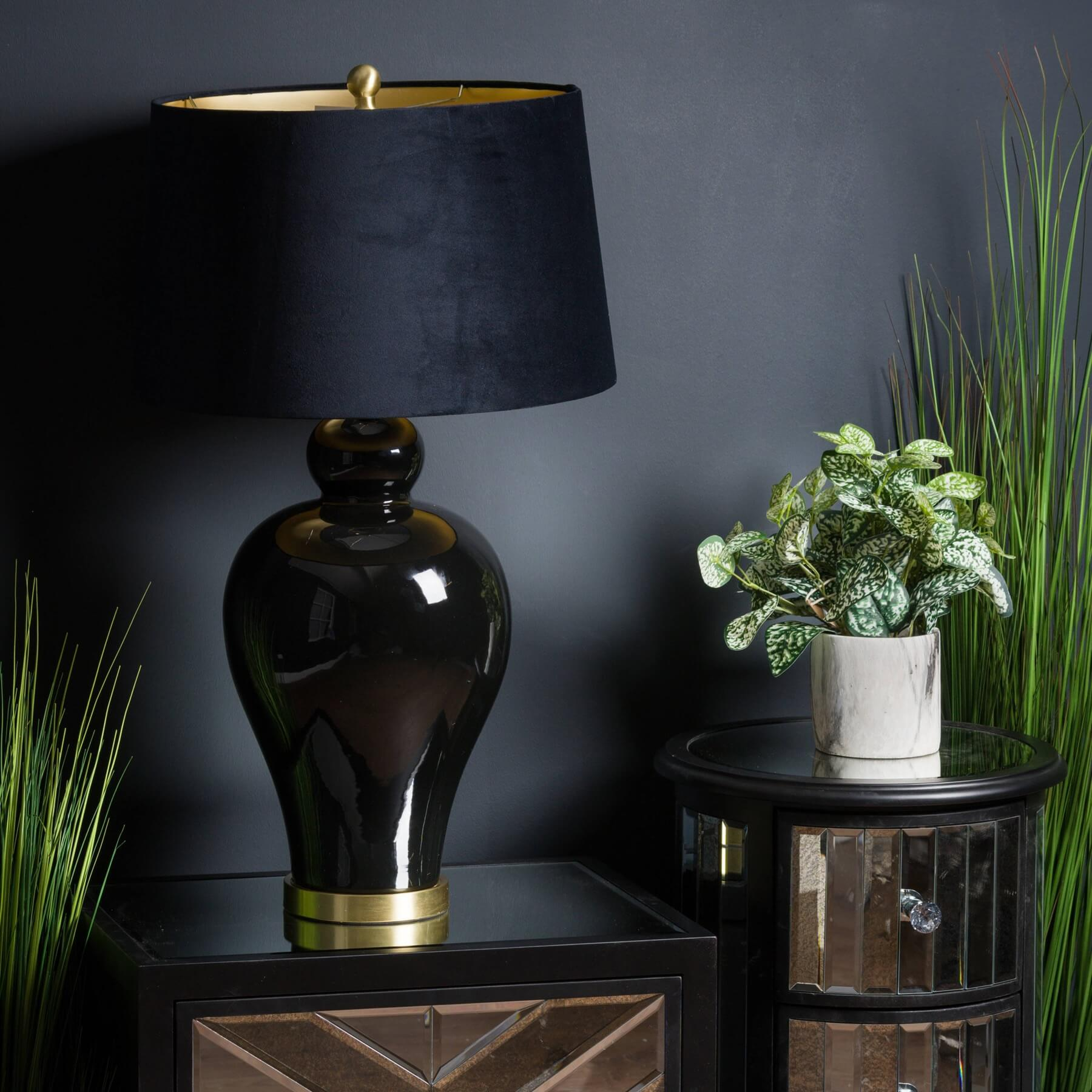 Kalvin Black Table Lamp