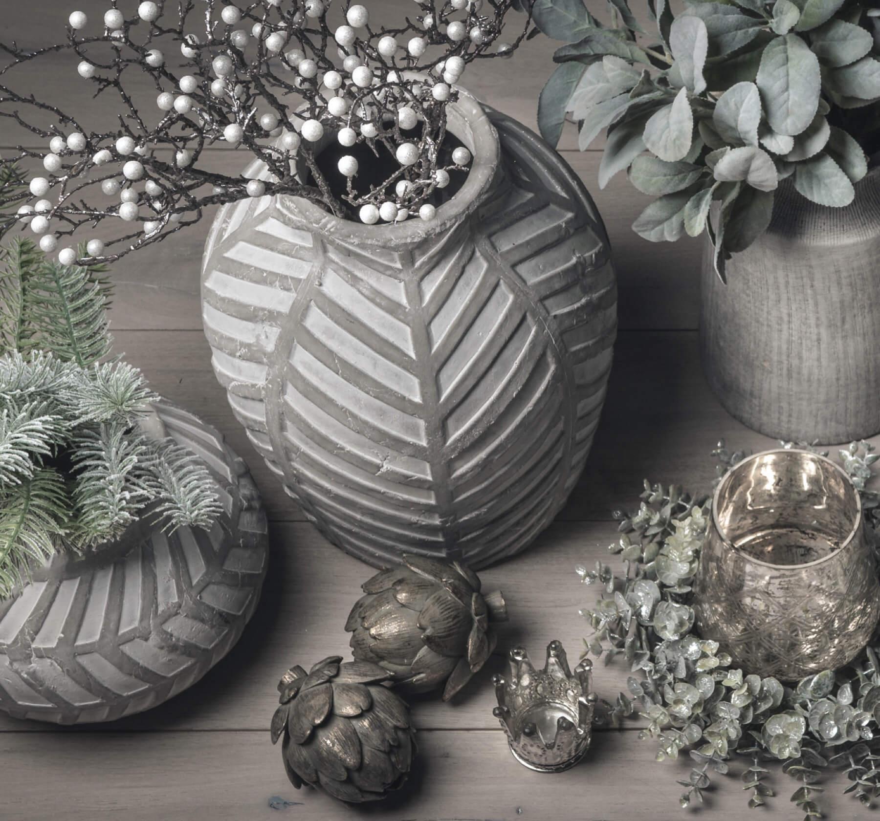 Bloomville  Stone Vase