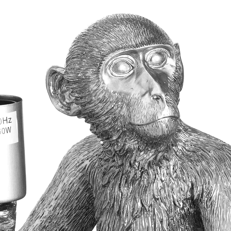 Ringo The Monkey Silver Table Lamp
