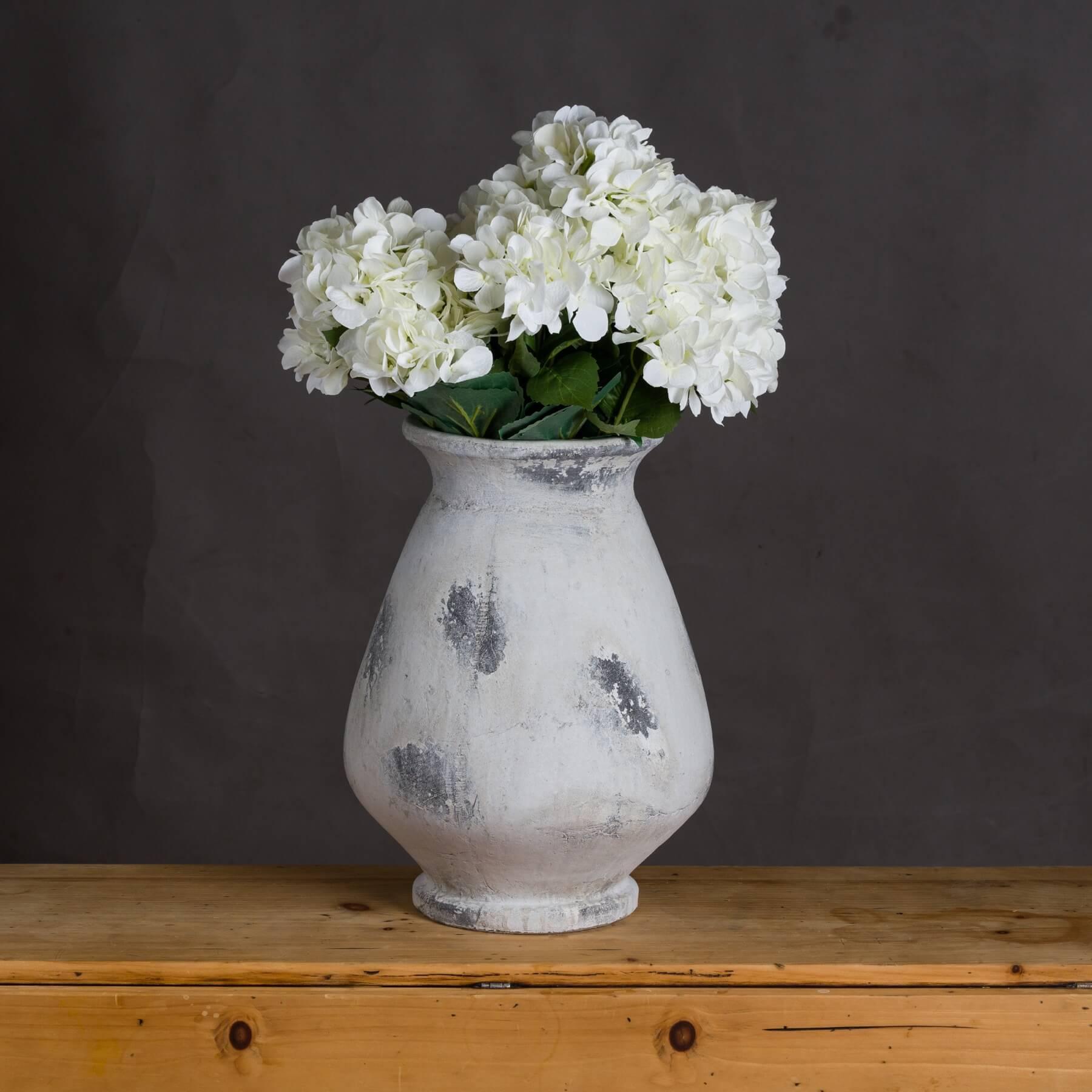 Naxos Large Antique White Vase