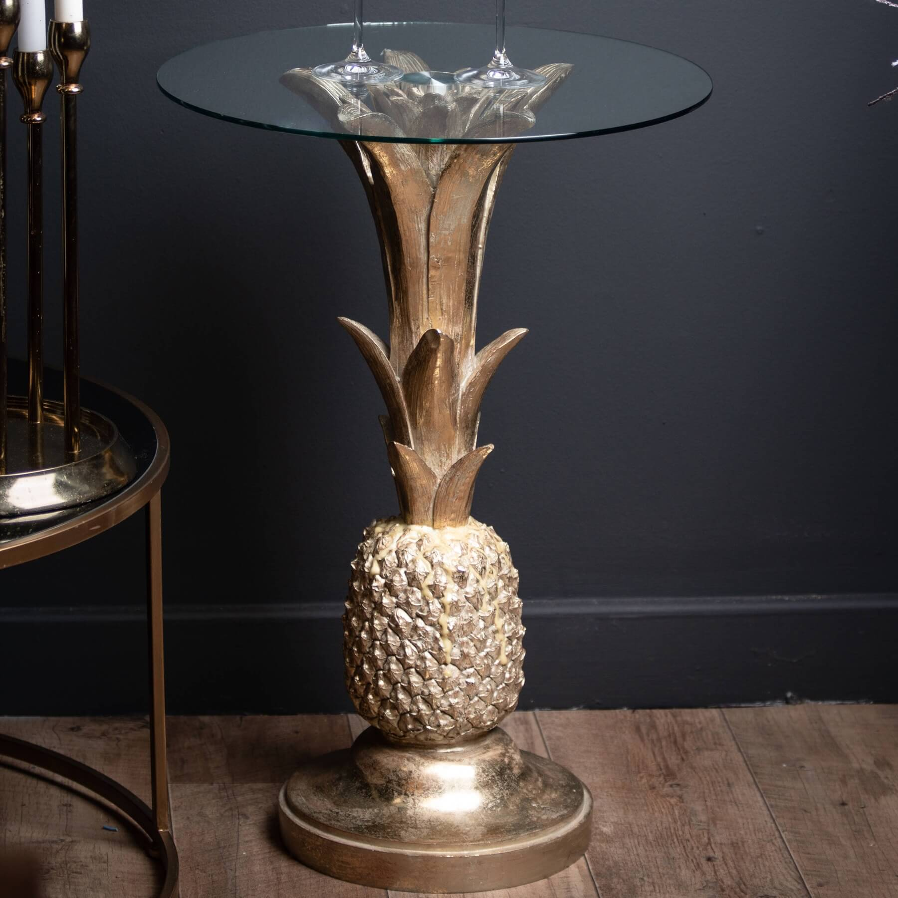 Ashby Gold Pineapple Side Table