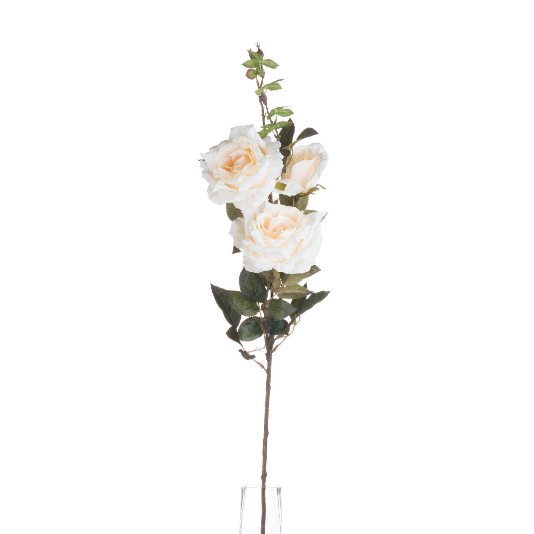 Autumn White Rose Spray