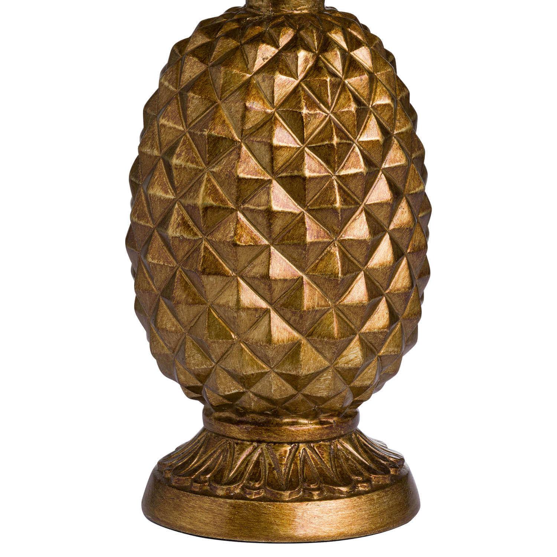 Antique Gold Pineapple Lamp With Mustard Velvet Shade