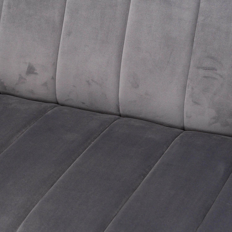Emperor Grey Velvet 2 Seater Sofa