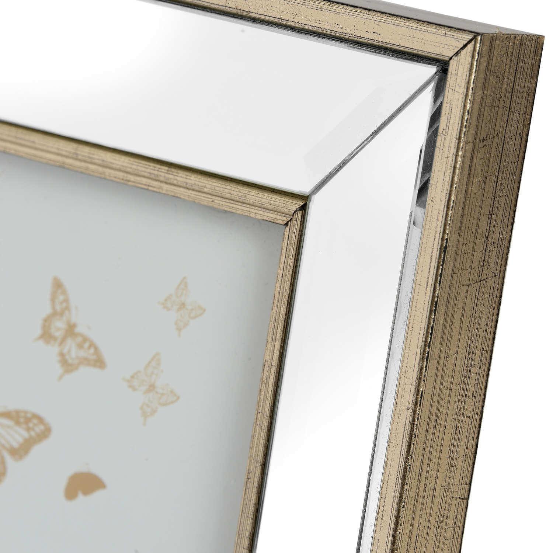Small Rectangle Mirror Bordered Photo Frame 4x6