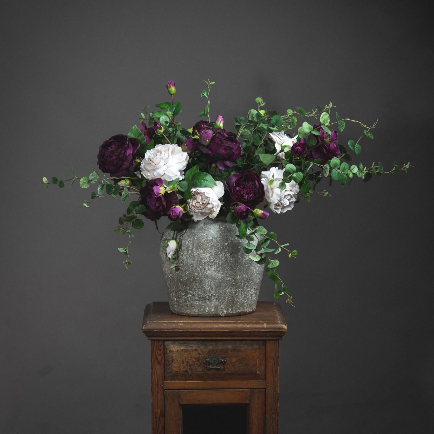 Aged Stone Ceramic Vase
