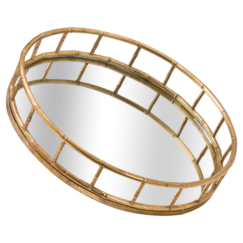 Set Of 2 Detailed Circular Trays