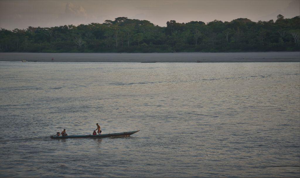 Peque peque on the Marañon River in Peru.