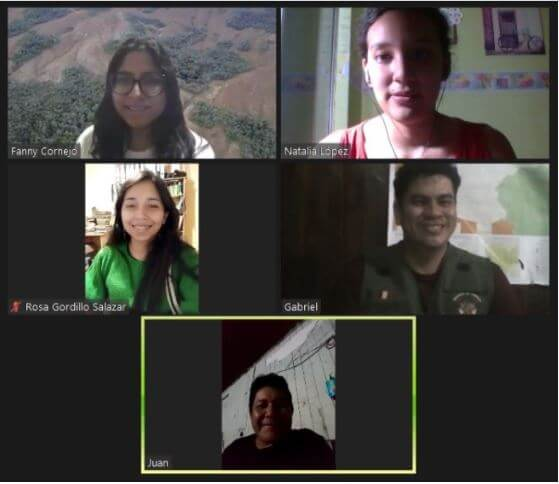 Zoom with Rainforest Partnership and partners in Santa Rosa, Ucayali, Peru.
