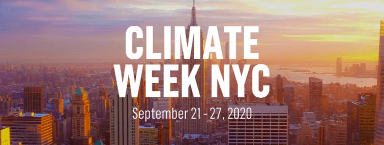 Climate Week NYC 2020: One Week to go!