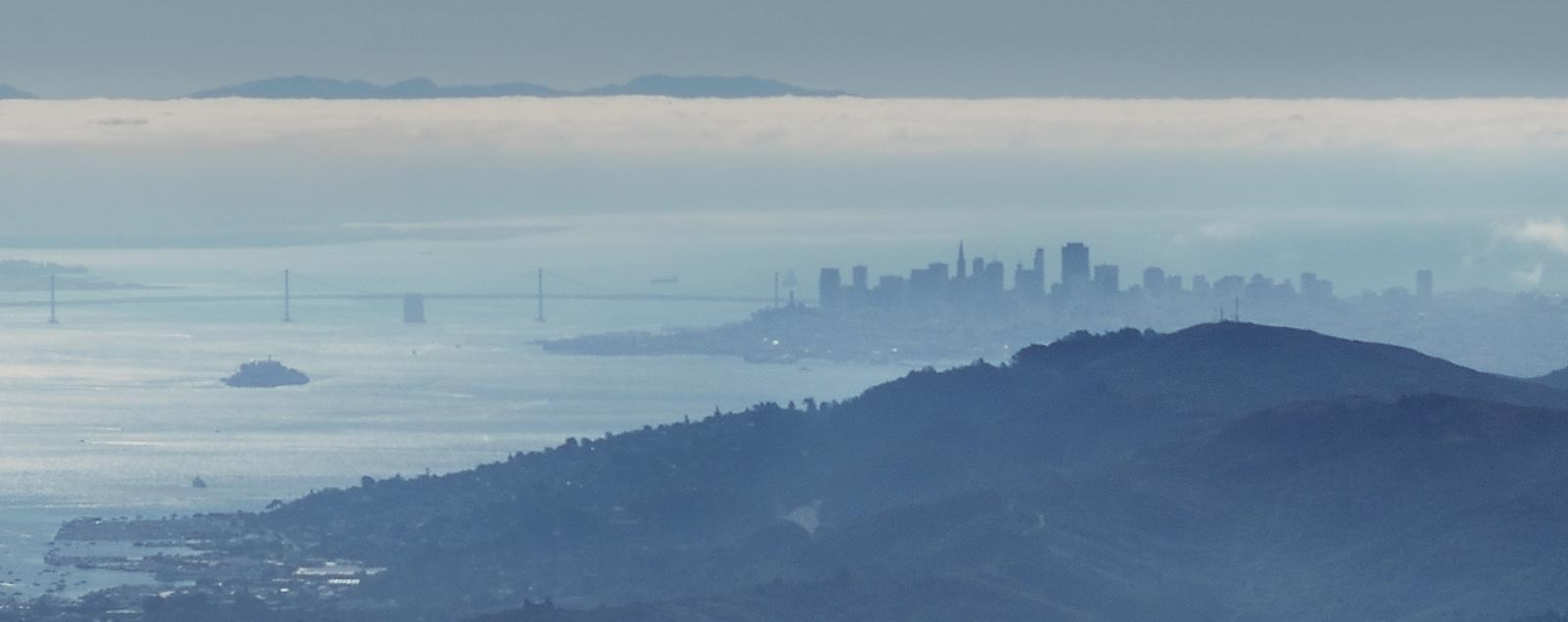 Scenic view of the San Francisco Skyline