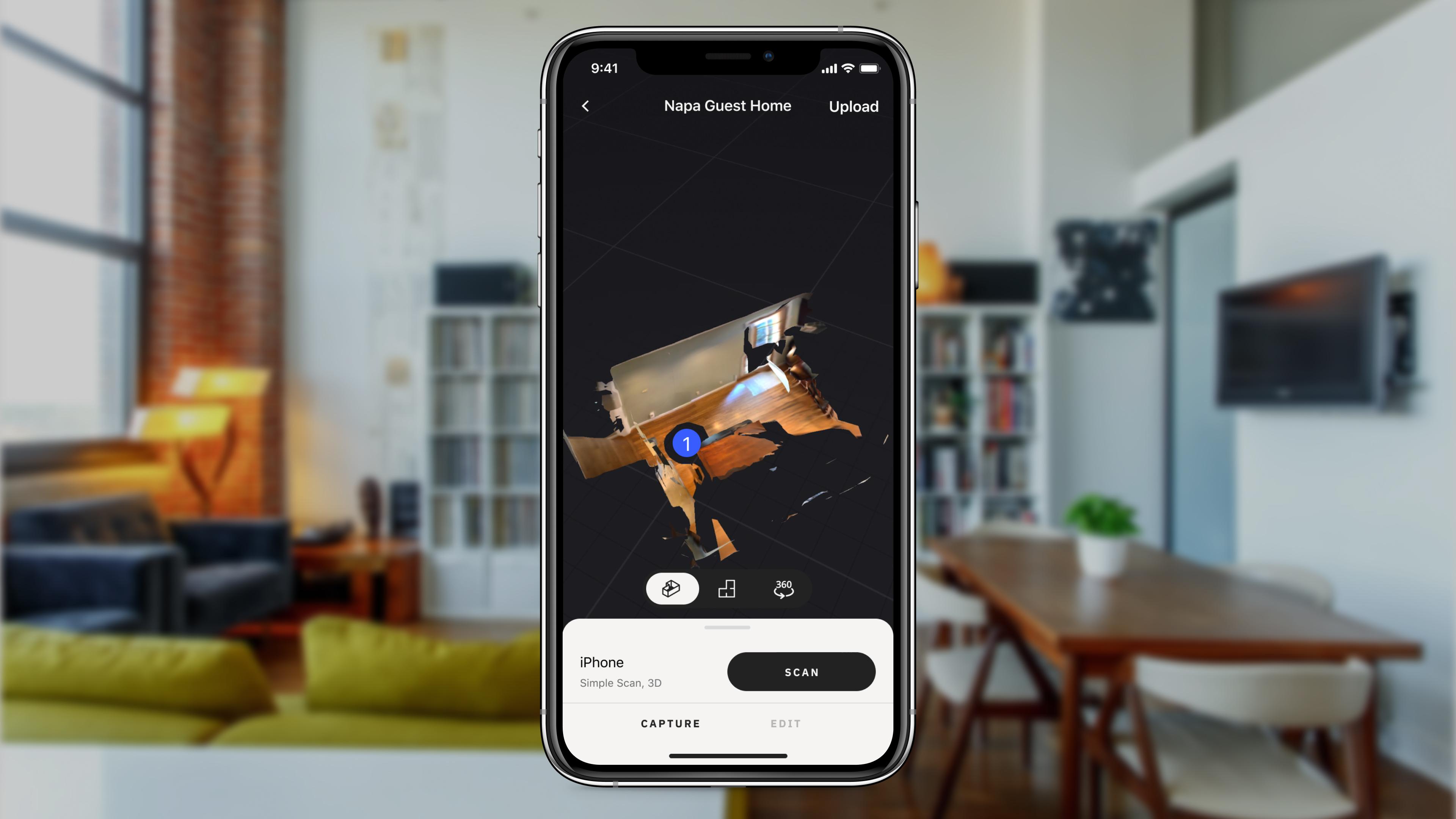 Matterport iPhone app image