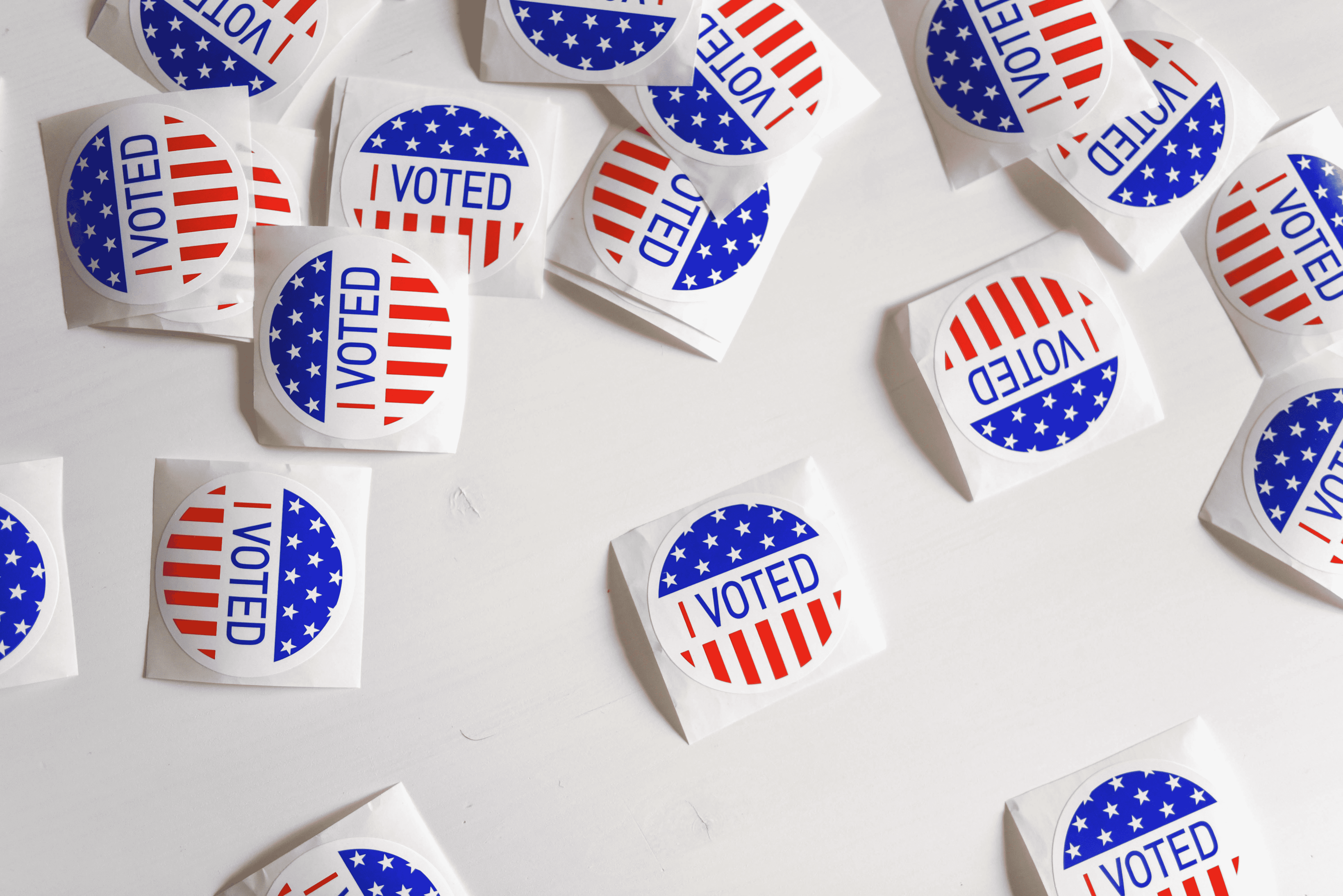 A pile of American 'I Voted' stickers