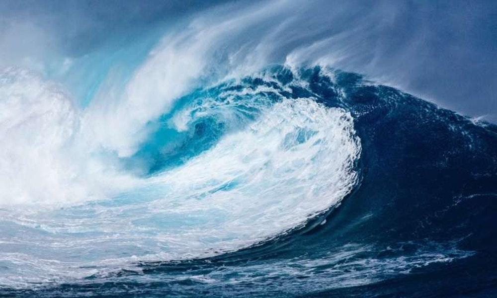 A large, crashing wave