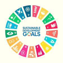 A rainbow circle symbolising the 17 United Nations Sustainable Development Goals