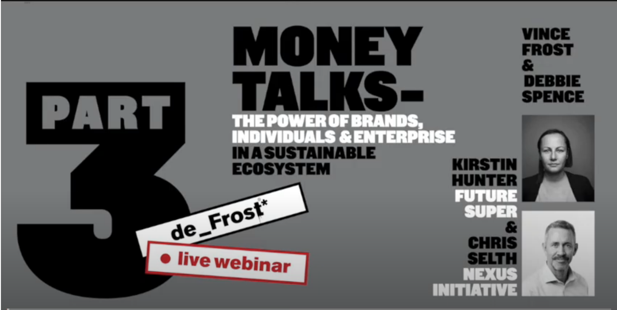 Grey thumbnail for the 'Money Talk: The Power of Brands, Individuals & Enterprise' video
