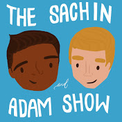 The playful blue logo of 'The Sachin and Adam Show'