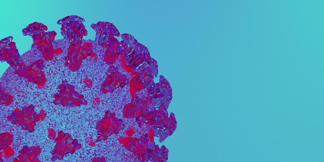 3D rendering of a Coronavirus.