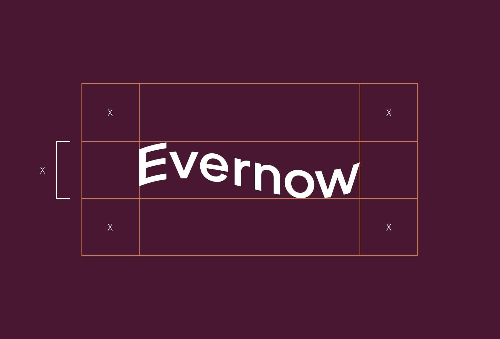 Evernow logo, a wavy shape.