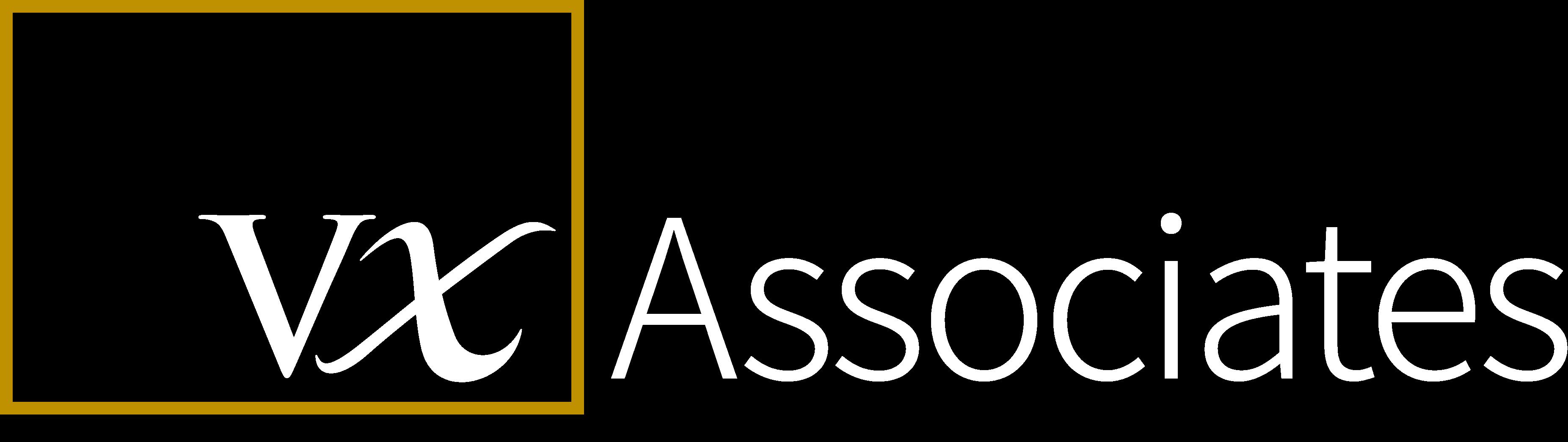 VX Associates white logo
