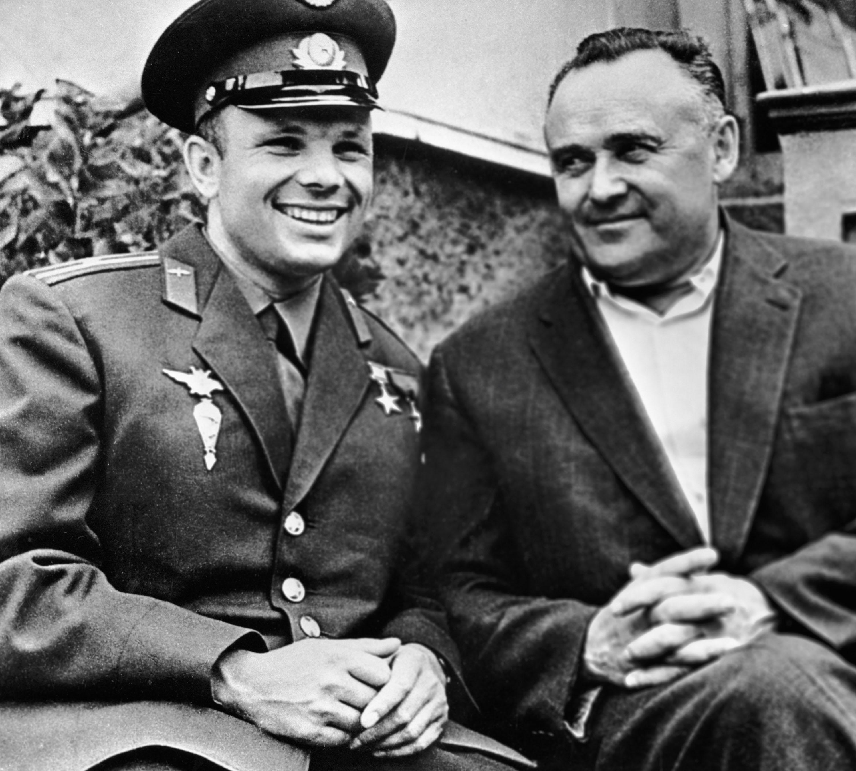 Yuri Gagarin before lift off