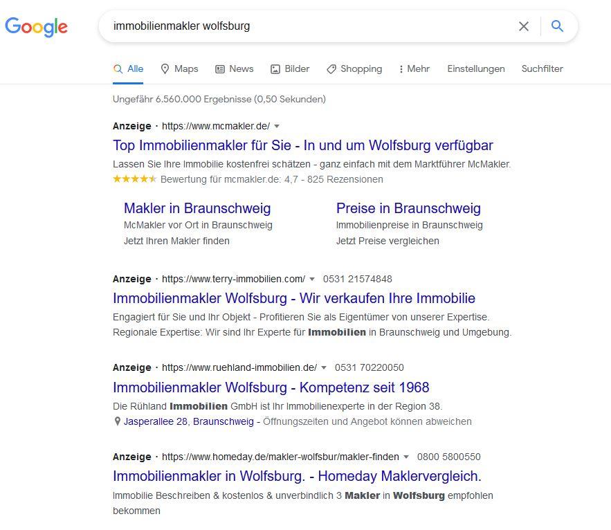 google ads wolfsburg