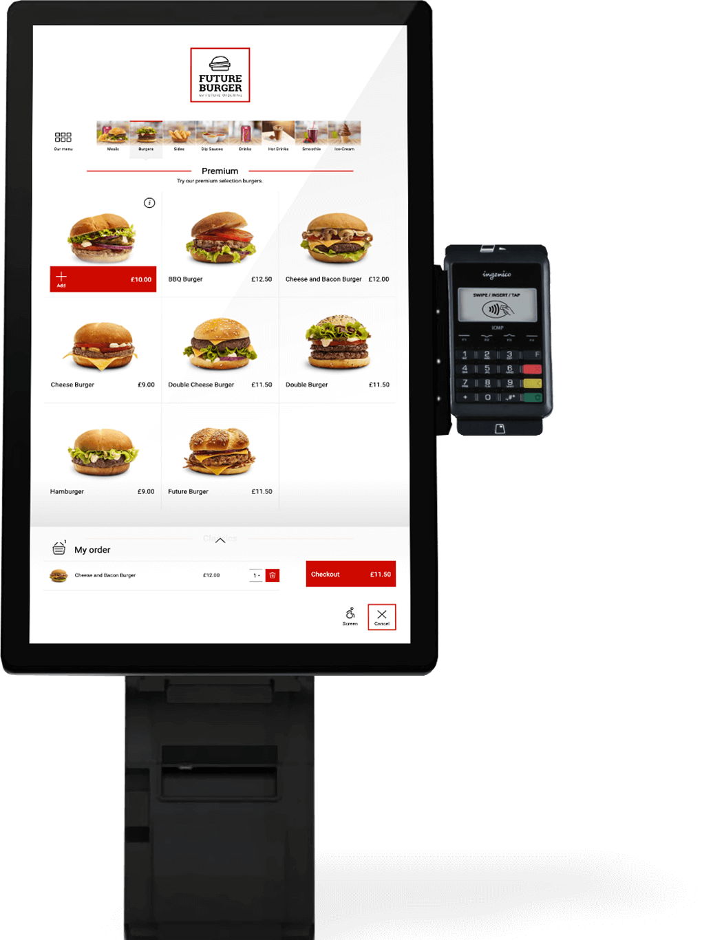 Future Ordering Kiosk Ordering Channel