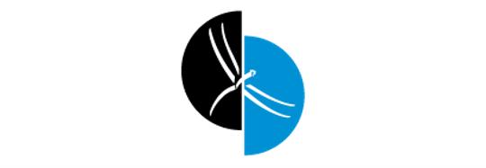 Libelle Logo blau schwarz