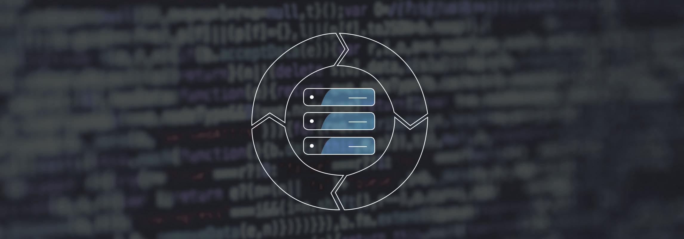 Master Data Life Cycle Icon auf Programmiercode