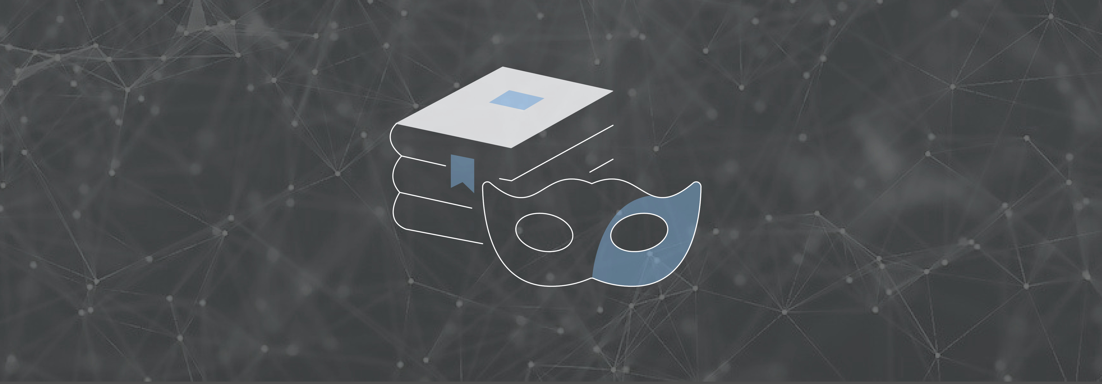 Libelle DataMasking Icon auf Netzwerkhintergrund