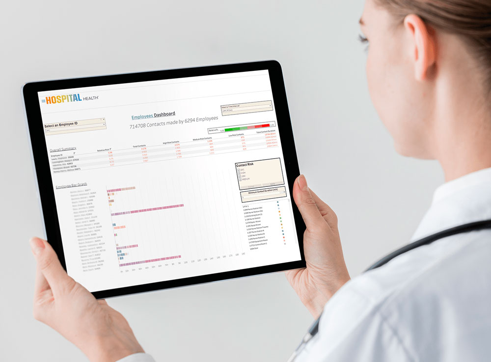hospital health on tablet