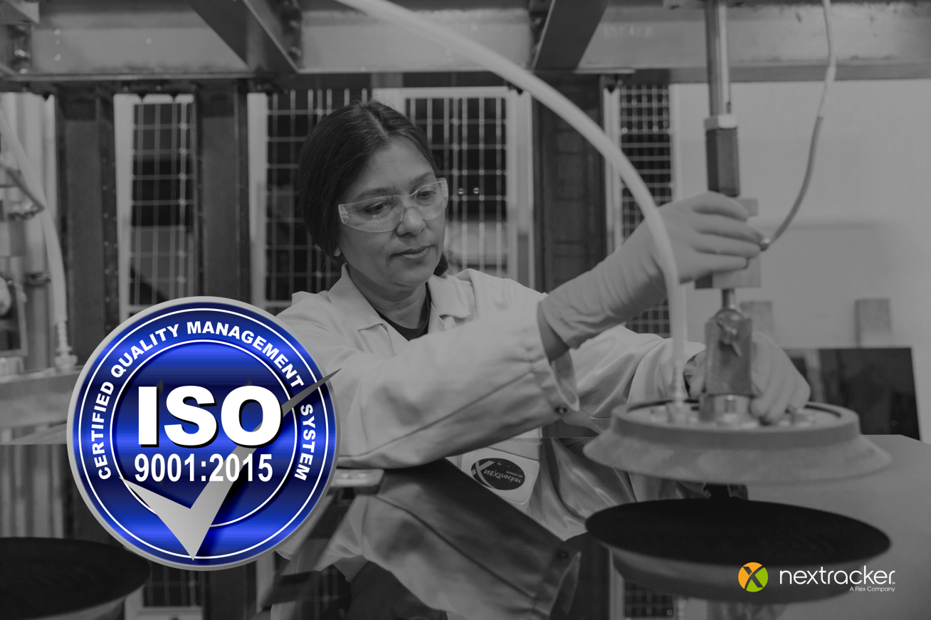 Nextracker Earns ISO-9001:2015 Certification for its Quality Management System