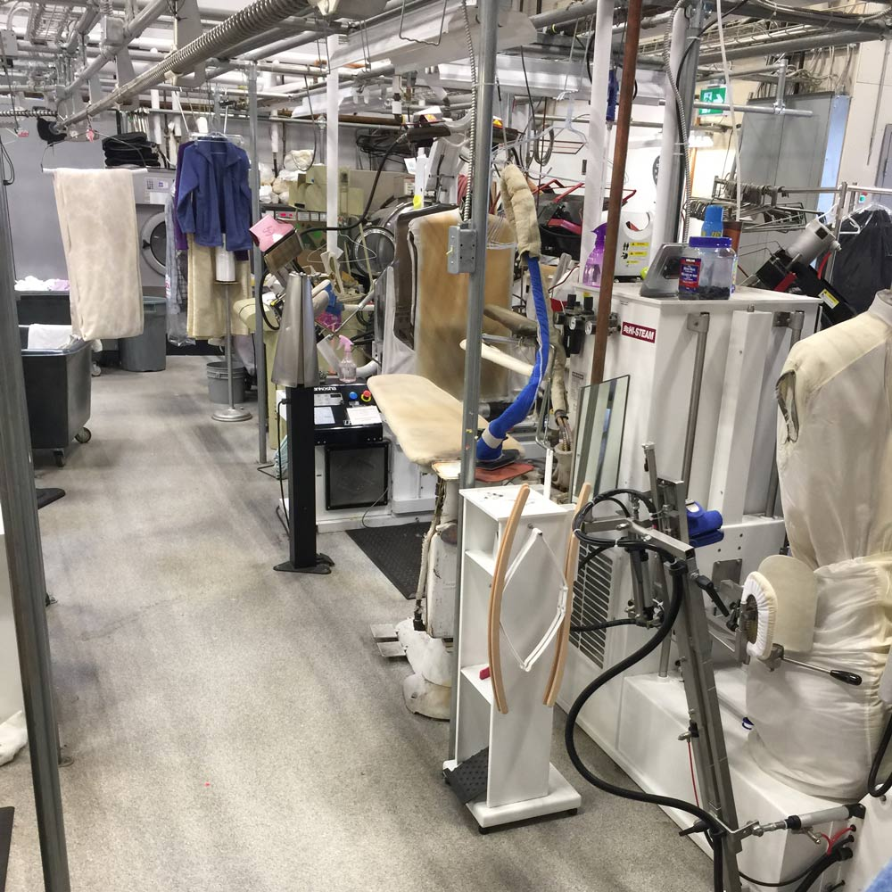 Fletchers Fabricare cleaning plant featuring state of the art technology