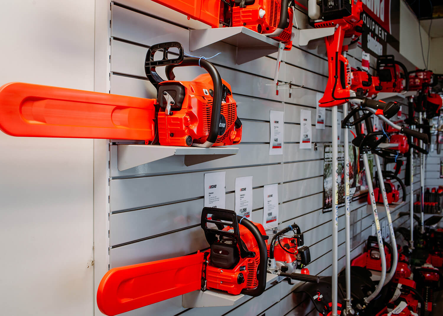 chainsaws and power tools